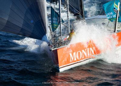 Octobre 2018 : entraînement de l'Imoca MONIN au large de Groix / © Benoît Stichelbaut