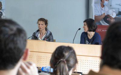 Isabelle parle «gestion du sommeil et du stress» avec les professionnels de santé brestois