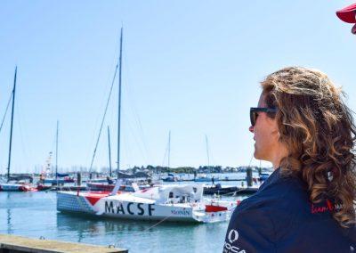 Mise à l'eau de l'Imoca MACSF / © Lanic Sport Team