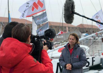 Interview médias Transat Jacques Vabre Normandie Le Havre / © Séverine Sollier