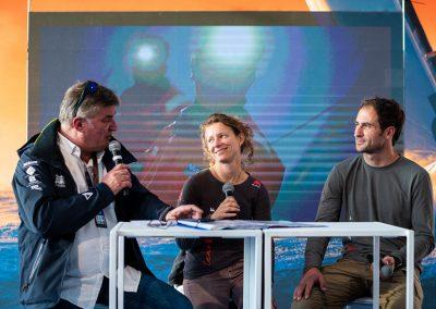 Interview sur le village de la Transat Jacques Vabre Normandie Le Havre avec Serge Herbin / ©  Jean-Louis Carli / Alea