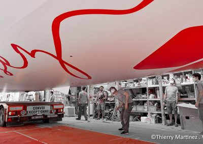 L'IMOCA MACSF prêt à reprendre la mer - © Thierry Martinez