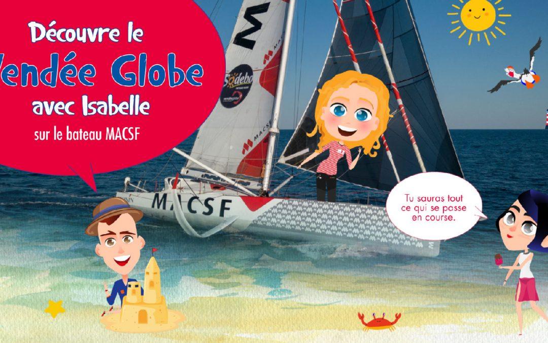 Edukit, l'outil pédagogique qui raconte le Vendée Globe avec Isabelle Joschke