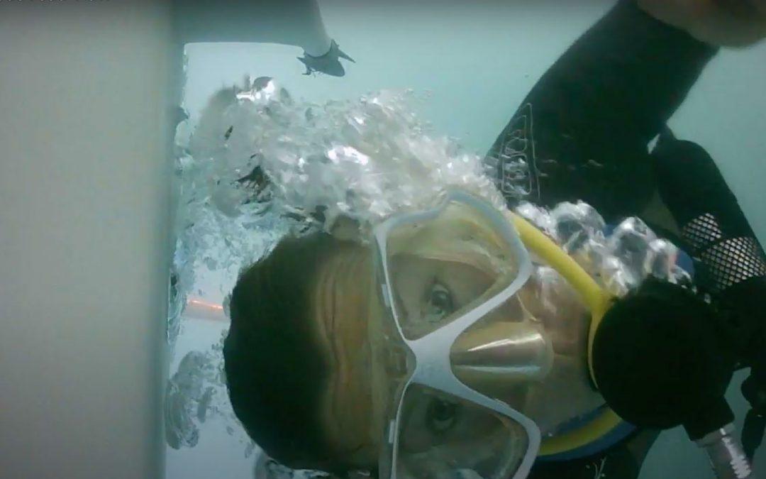 Un matériel de plongée sur-mesure pour Isabelle