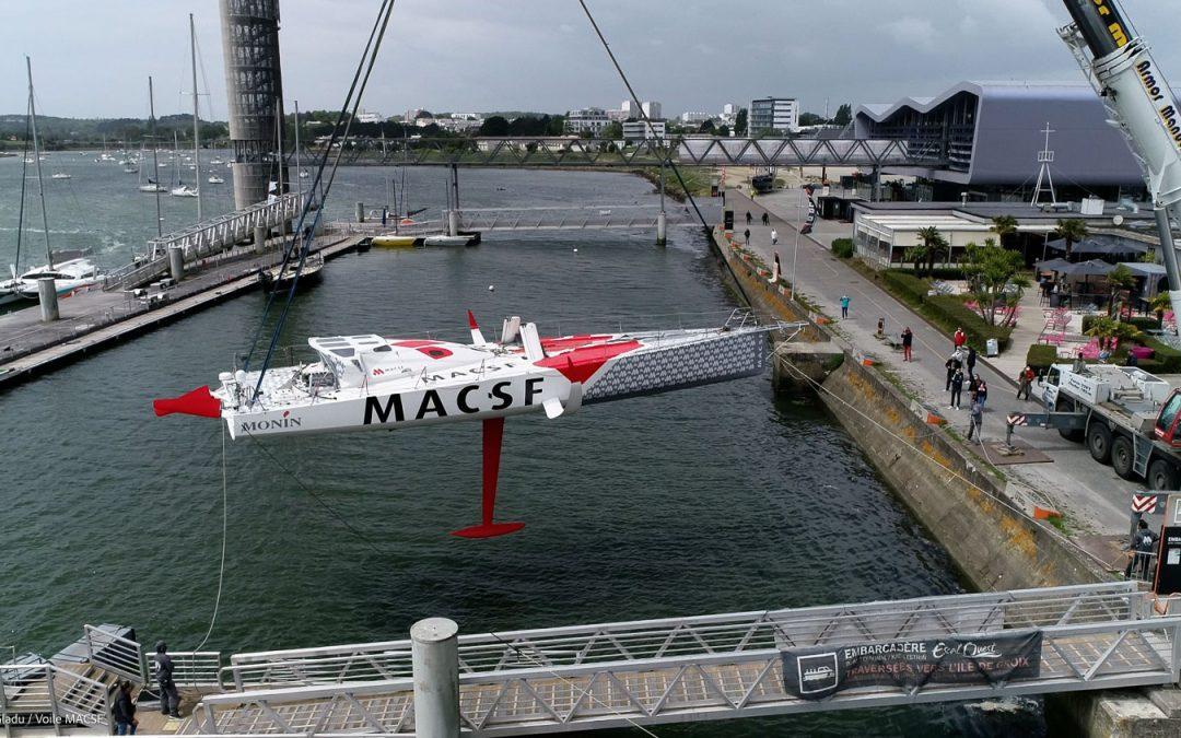 Retour à l'eau pour l'IMOCA MACSF